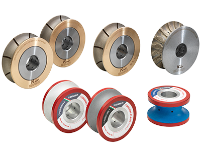 PERIPHERAL DIAMOND GRINDING AND POLISHING WHEELS